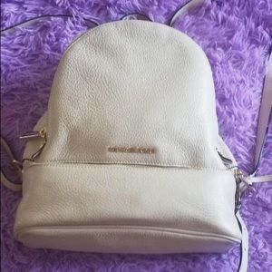 Michael Kors leather small backpack blush pink
